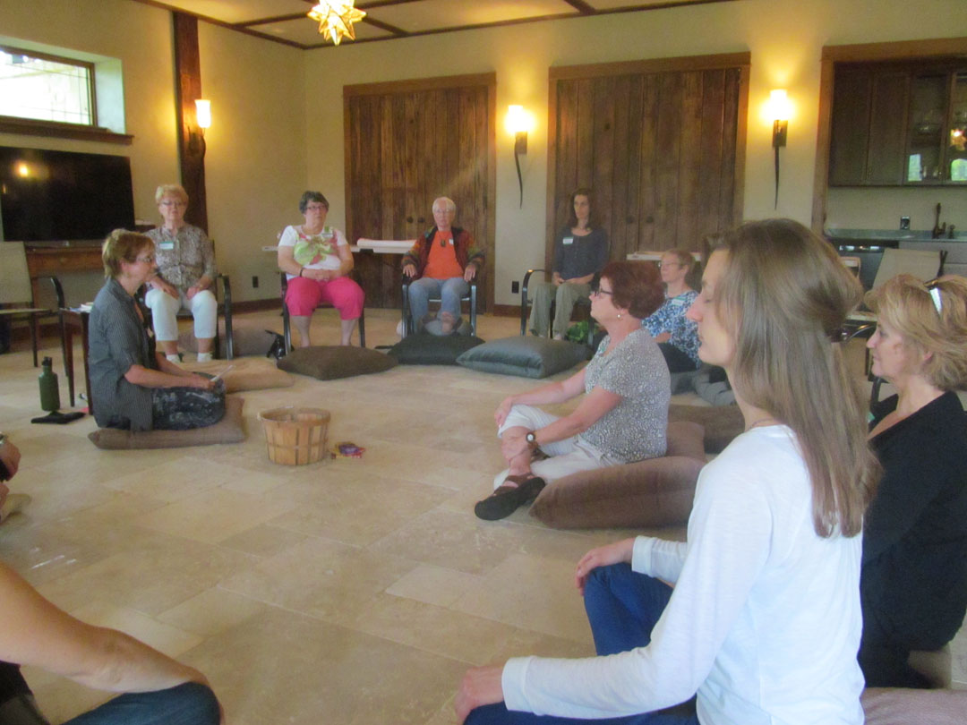 9-19-15 retreat on floor in circle